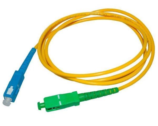 Patch cord SC/APC-SC/UPC simplex SM 1m