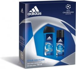Adidas UEFA Champions League Star Edition Deo Body Spray 150 ml + Hair & Body Shower Gel 250 ml
