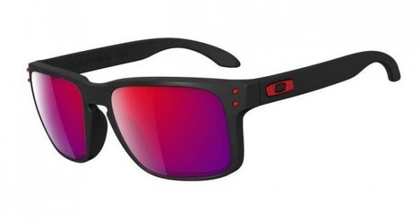 Oakley HOLBROOK. Matte Black/Red Iridium OO9102-36