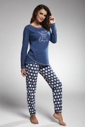 Piżama damska Cornette 161/162 whit love jeans
