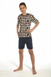 Piżama chłopięca Cornette 335/77 young emoticon2 granatowy