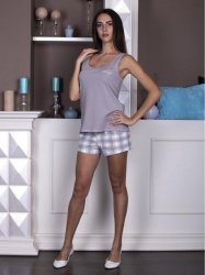 Piżama damska Roksana Linda 572 Kratka
