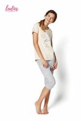 Piżama damska Esotiq Rakel 35255-03X Pastelowy róż