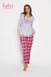 Piżama damska Esotiq Galya 35598-09x Szaro-różowa