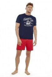 Piżama męska Henderson Edge 35738-59X Granatowo-czerwona