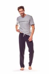 Piżama męska Henderson Gale 36214-90X Szaro-czarna