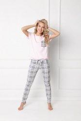 Piżama damska Aruelle Londess Long Pink-Grey