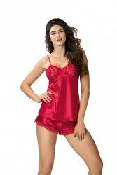 Piżama damska Aisha 1/2 czerwona Donna WYSYŁKA 24H