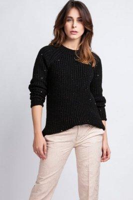 Sweter damski MKM Kriss SWE 076 czarny