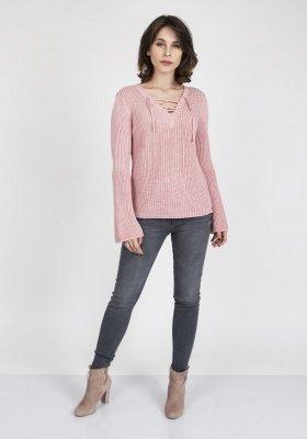 Sweter damski MKM Kylie SWE 117 Pudrowy róż