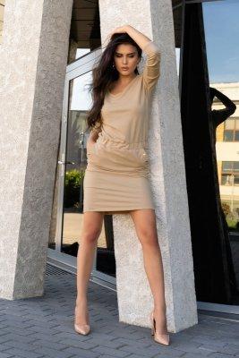 Sukienka damska Merribel Ponitama Beige