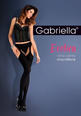 Rajstopy Gabriella Erotica Strip Panty microfibra 638