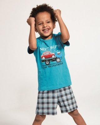 Piżama chłopięca Cornette Kids Boy 789/80 Car Transporter 86-128