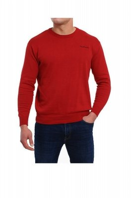 Sweter R-Napis bordowy Pierre Cardin