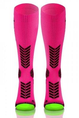Podkolanówki Compression Socks różowe Sesto Senso