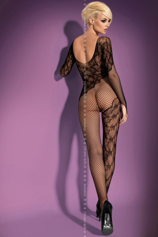 Bodystocking F210 black Obsessive