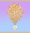 otulacz bambusowy, colorful baloons, zmierzch