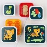 ALLC, komplet 4 lunch boxów, jungle