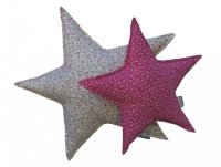 malooni poduszka gwiazdka duża, biała łączka