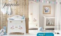 Pinio, pokoik Parole, konik, łóżeczko + komoda + przewijak + szafa 2-drzwiowa