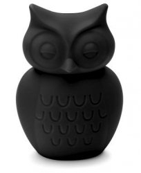 KG design, skarbonka sowa, czarna