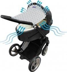 Dooky, uniwersalna osłonka do wózka i fotelika, crowns
