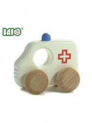 Bajo, drewniane autko, ambulans