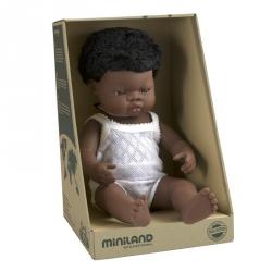Miniland, lalka chłopiec, Afrykanczyk, 38cm
