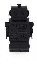 KG design, skarbonka robot, czarna