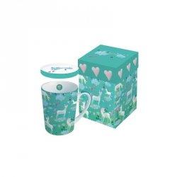 PPD kubek porcelanowy z przykrywką, w pudełku, unicorn