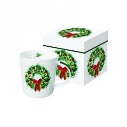 PPD, kubek w prezentowym pudełku świąteczny wieniec 350ml