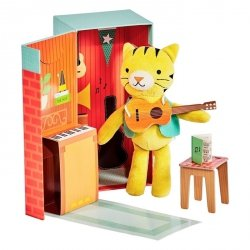 Petit Collage, przytulanka tygrysek w pudełku