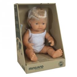 Miniland, lalka chłopiec, Europejczyk, 38cm