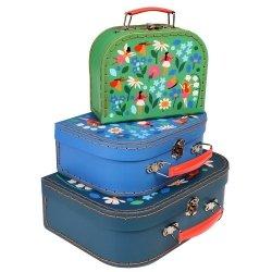 Rex London, zestaw 3 walizeczek, wróżki w ogrodzie