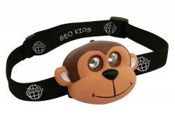 Geo kids, latarka czołowa, małpka