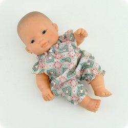 kombinezon w geometryczne  figury dla lalki Miniland 21cm
