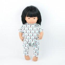 bawełniany kombinezon w misie, dla lalki Miniland 38cm
