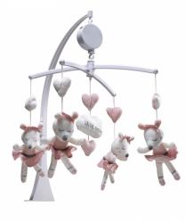 Sauthon, karuzela z pozytywką, Lilibelle, myszki baletnice