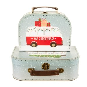 Sassandbell, zestaw 2 walizeczek, Merry Christmas