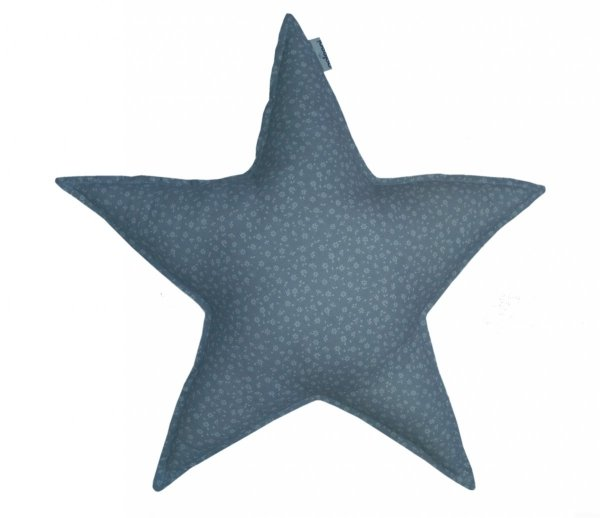 malooni poduszka gwiazdka duża, szara łączka