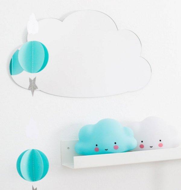A little lovely company, lampka ledowa chmurka niebieska mała