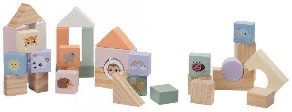 Joueco, drewniany pchacz z klockami