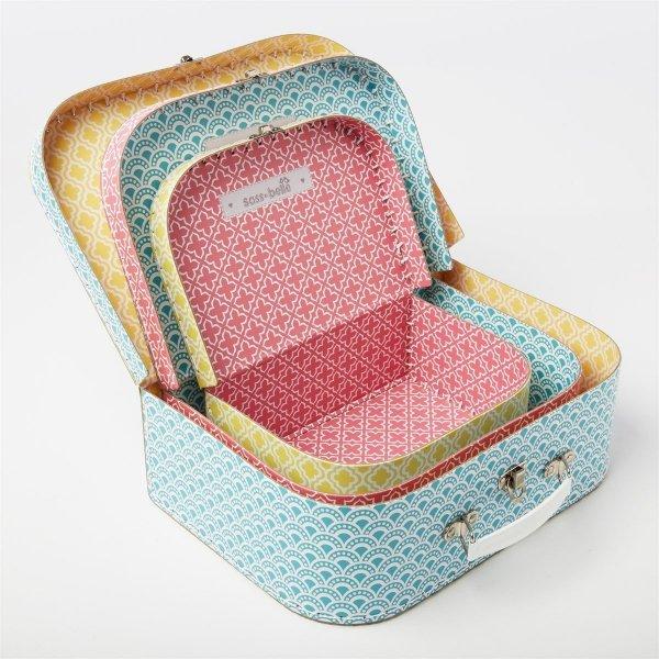 Sassandbell, zestaw 3 walizeczek, marokańskie