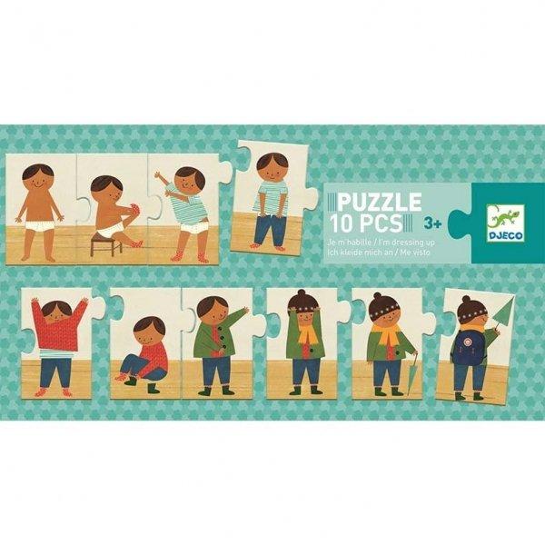 Djeco, puzzle, edukacyjna układanka, ubieram się