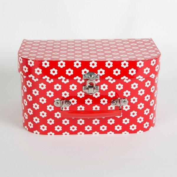 Sass&bell, zestaw naczyń kuchennych, czerwone, z walizeczką - kuchenką