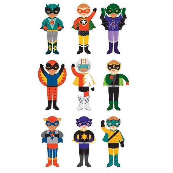 Petit Collage, układanka magnetyczna, superbohaterowie