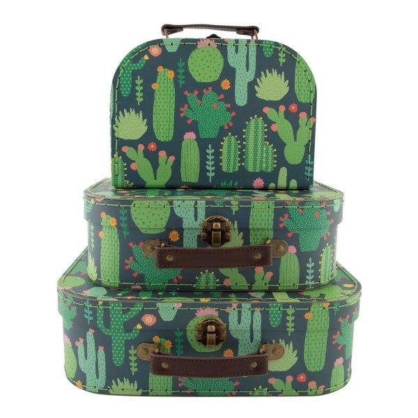 Komplet walizek - kaktusy
