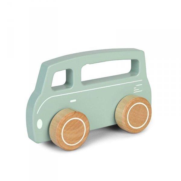 Little Dutch, autko drewniane, van, szaro-zielony