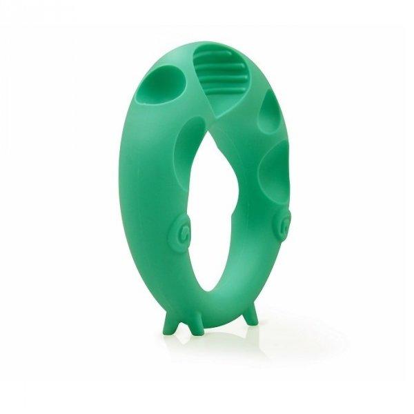Mombella, gryzak silikonowy, owca, zielony