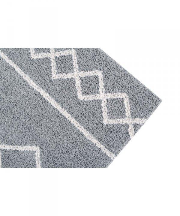 Lorena Canals, dywan bawełniany, oasis grey, natural, 120x160cm